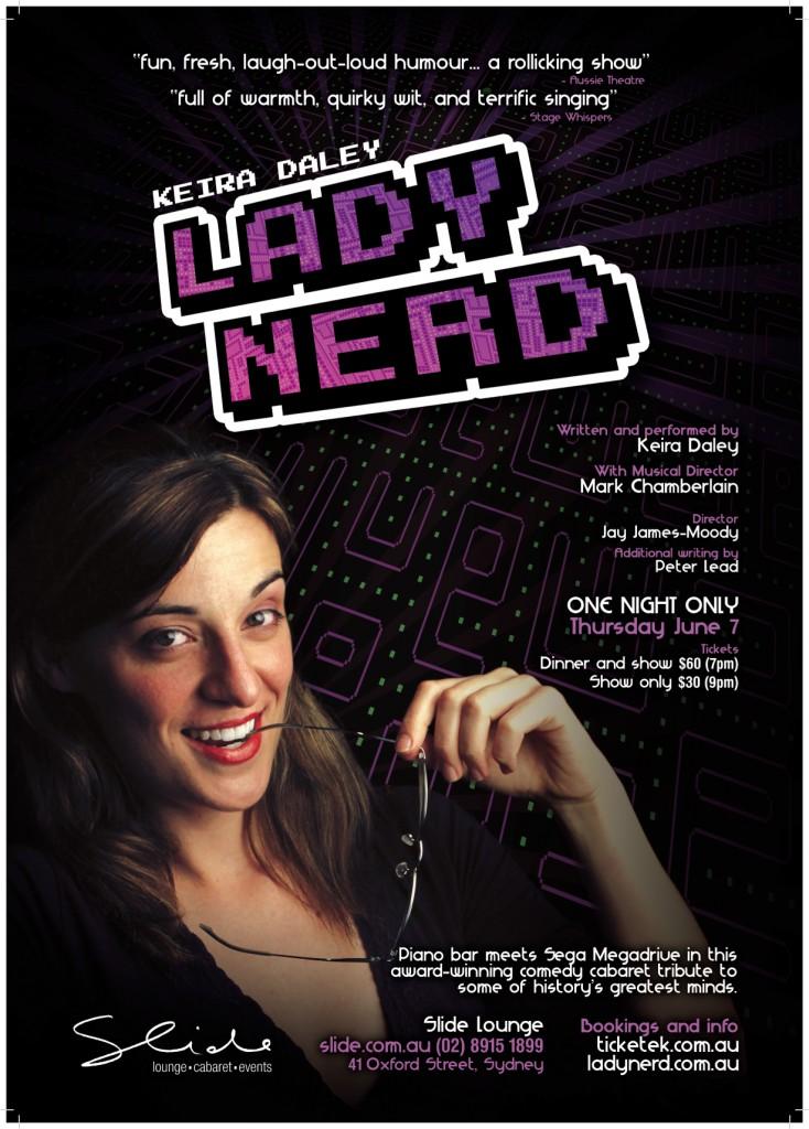 LadyNerd at Sydney's Slide Lounge