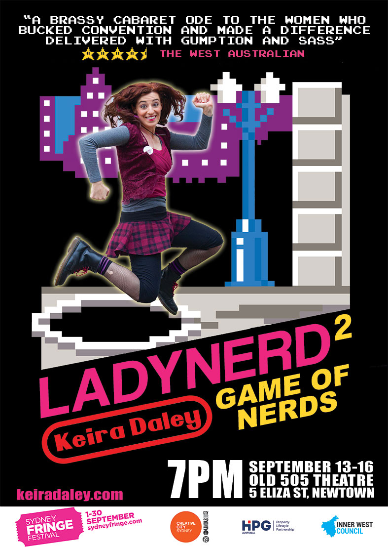 LadyNerd 2 Game of Nerds at Sydney Fringe