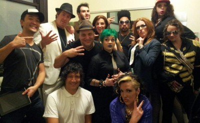 Melbourne Fringe 2013 - Backstage at the most amazing 1990s party ever, courtesy of Melbourne Fringe 2013 - I'm the one up the back who looks like the work experience kid.