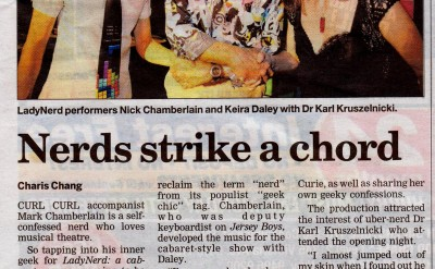 Manly Daily - Manly Daily for Sydney Fringe 2011. Yep, 'Nick' and I totally met Dr Karl!